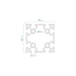 90x90 Sigma Profil 10 Kanal