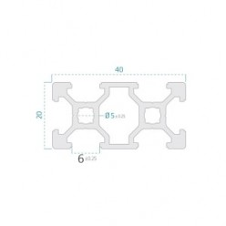 20X40 Sigma Profil 6 Kanal