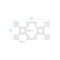 20x40 Siyah Sigma Profil 6 Kanal